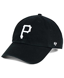 Pittsburgh Pirates Black White Clean Up Cap