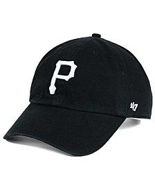 '47 Brand Pittsburgh Pirates Black White Clean Up Cap