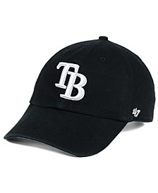 Tampa Bay Rays Black White Clean Up Cap