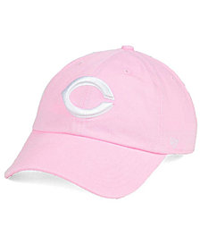 '47 Brand Women's Cincinnati Reds Pink/White Clean Up Cap