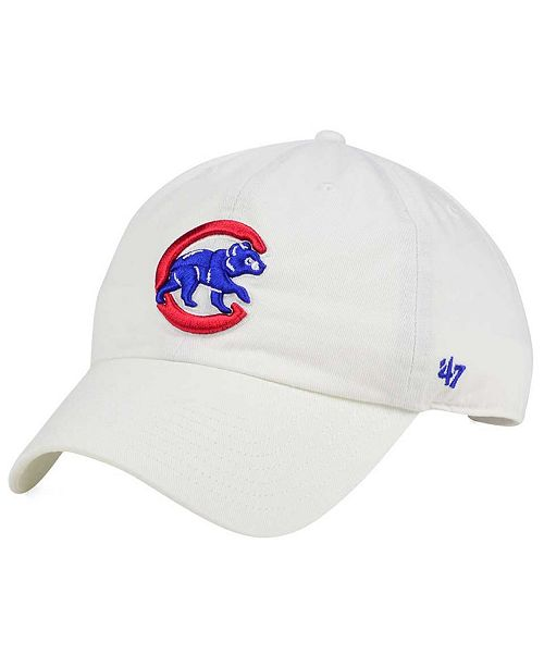 04f914d9dd4c2 47 Brand Chicago Cubs White Clean Up Cap   Reviews - Sports Fan Shop ...