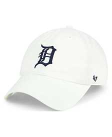 '47 Brand Detroit Tigers White Clean Up Cap