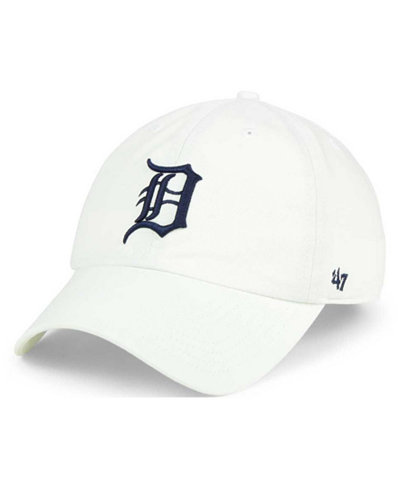 '47 Brand Detroit Tigers White Clean Up Cap