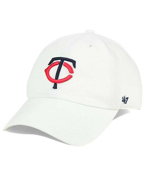 '47 Brand Minnesota Twins White Clean Up Cap