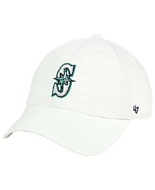 Seattle Mariners White Clean Up Cap
