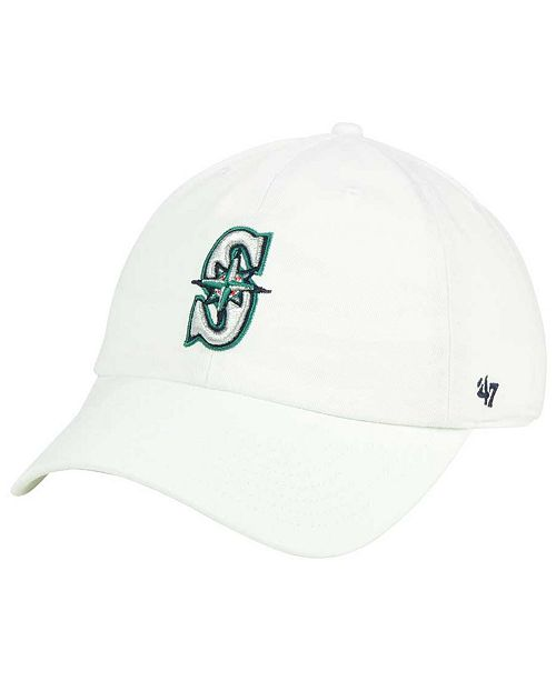 innovative design fe166 b84a4 ...  47 Brand Seattle Mariners White Clean Up Cap    ...
