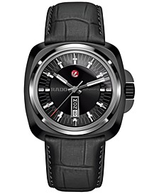 Men's Automatic Swiss Hyperchrome 1616 Black Leather Strap Watch 46mm R3217155