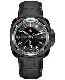 Rado Men's Automatic Swiss Hyperchrome 1616 Black Leather Strap Watch 46mm R3217155