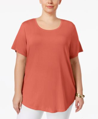 JM Collection Plus Size Short-Sleeve Top, Only at Macy's