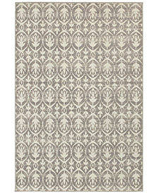 "CLOSEOUT! JHB Design  Soleil Tree Grey 7'10"" x 10'10"" Indoor/Outdoor Area Rug"