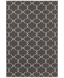 "CLOSEOUT! JHB Design  Soleil Jagged Charcoal  6'7"" x 9'6"" Indoor/Outdoor Area Rug"