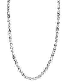 "Italian Gold White Gold Necklace, 14k White Gold 18"" Perfectina Chain Necklace (1-1/4mm)"