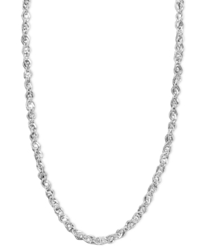 "White Gold Necklace, 14k White Gold 18"" Perfectina Chain Necklace"