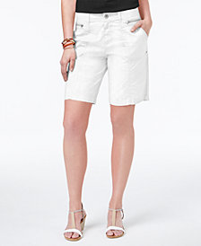 Style & Co Zippered-Pocket Shorts, Created for Macy's
