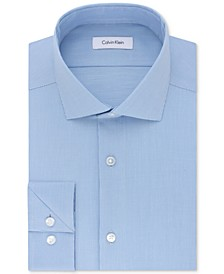 Men's STEEL Big & Tall Slim-Fit Non-Iron Performance Stretch Unsolid Solid Dress Shirt