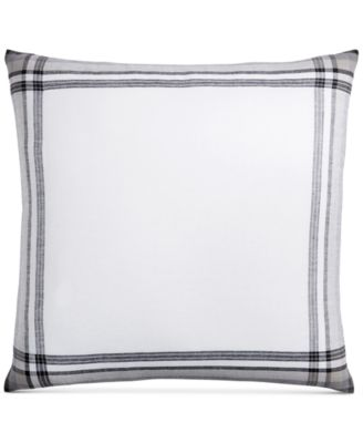 CLOSEOUT!  Linen Plaid European Sham, Created for Macy's