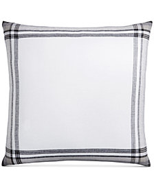CLOSEOUT! Hotel Collection  Linen Plaid European Sham, Created for Macy's