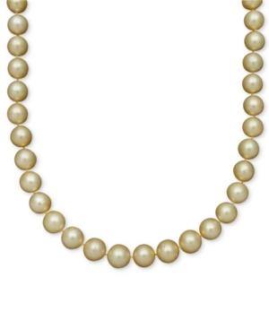 Belle de Mer Pearl Necklace, 14k Gold Cultured Golden South Sea Pearl Strand (10-12mm)