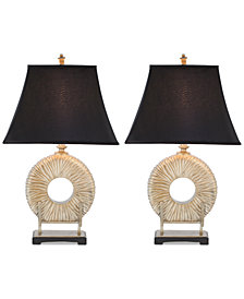 Safavieh Set of 2 Circle Table Lamps