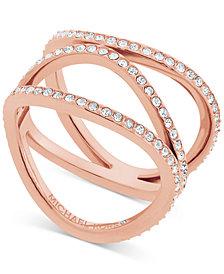 Michael Kors Cubic Zirconia Wavy Layers Ring