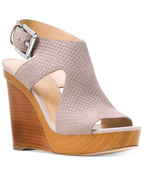 a234c21a209 Michael Kors Josephine Wedge Sandals   Reviews - Sandals   Flip ...