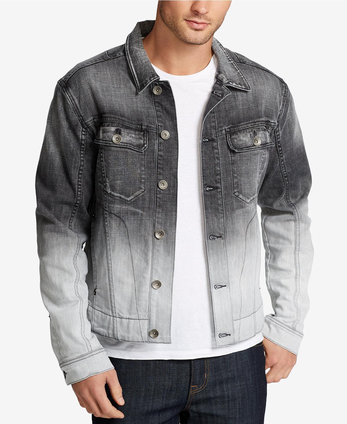 William Rast Mens Denim Cotton Moto Jacket