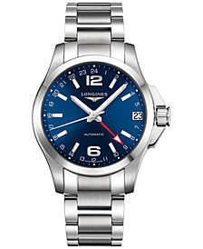 Longines Men's Swiss Automatic Conquest Stainless Steel Bracelet Watch 41mm L36874996