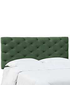 Hyde Park King Horizontal Tufted Headboard, Quick Ship