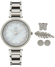 I.N.C. Women's April Bracelet Watch and Accessory Set 34mm, Created for Macy's