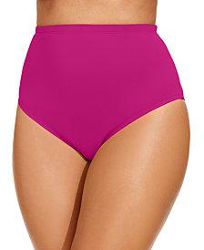 La Blanca Plus Size High-Waist Swim Bottoms