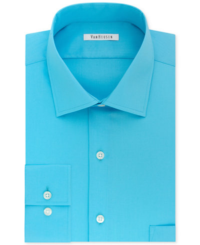 Van heusen big and tall classic fit flex collar solid for Tall collar dress shirts