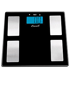 Escali USHM180G Body Analysis Scale, Tempered Glass