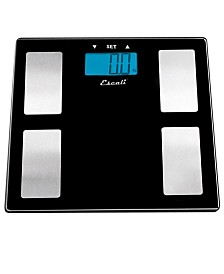 Glass Body Fat, Water, Muscle Mass Scale, 400lb