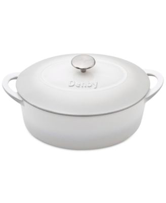 Natural Canvas Cast Iron 4.5 Qt. Oval Covered Casserole