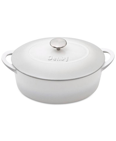 Denby Natural Canvas Cast Iron 4.5 Qt. Oval Covered Casserole