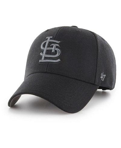 '47 Brand St. Louis Cardinals MVP Black and Charcoal Cap