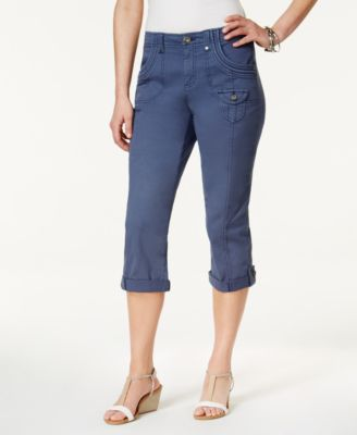 Image of Style & Co Cuffed Capri Pants, Created for Macy's