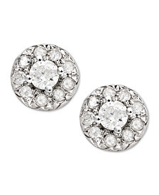 Diamond Round Stud Earrings in 14k White Gold (1/4 ct. t.w)