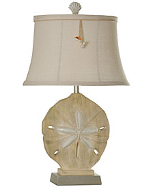 StyleCraft Sand Dollar Large Table Lamp