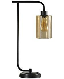 StyleCraft Seeded Amber Desk Lamp