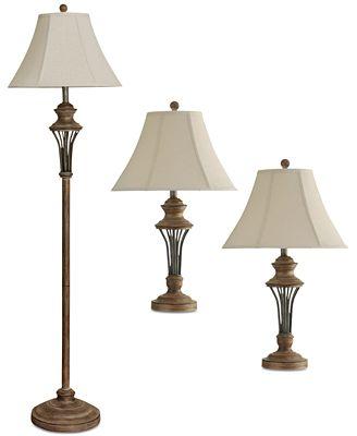Stylecraft set of 3 moraga lamp set