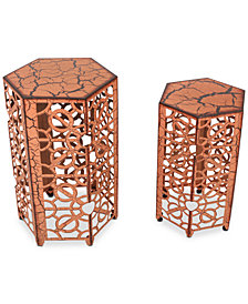 Moren Iron (Set of 2) Accent Tables, Quick Ship