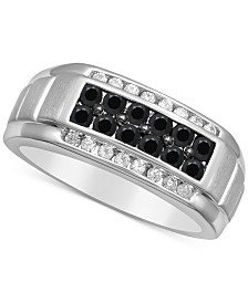 Men's Diamond Cluster Ring (1 ct. t.w.) in 10k White Gold