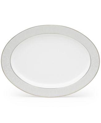 """Parchment 14"""" Oval Platter"""