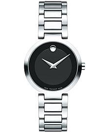 Movado Women's Swiss Modern Classic Stainless Steel Bracelet Watch 28mm 0607101