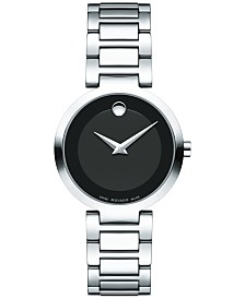 Movado Women's Swiss Modern Classic Stainless Steel Bracelet Watch 28mm 0607101