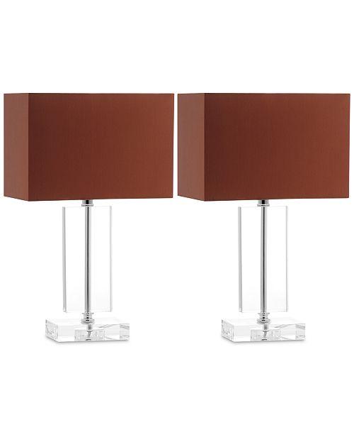 Set of 2 Art Modern Table Lamps