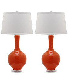 Set of 2 Blanche Gourd Ceramic Table Lamps