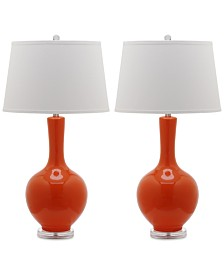 Safavieh Set of 2 Blanche Gourd Ceramic Table Lamps
