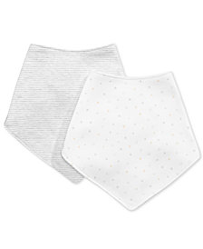 First Impressions Baby Boys & Girls 2-Pk. Stars & Stripes Cotton Bandana Bibs, Created for Macy's